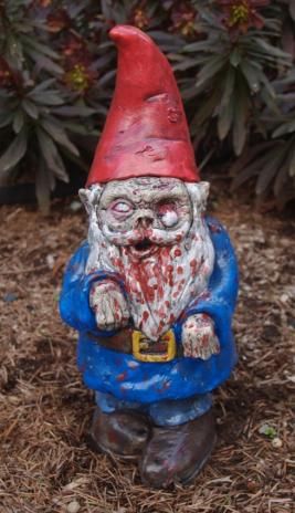 """Zombie Garden Gnome, """"Walking Dead"""" (5-6 WEEKS Before delivery)"""