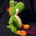 Crocheted Yoshi